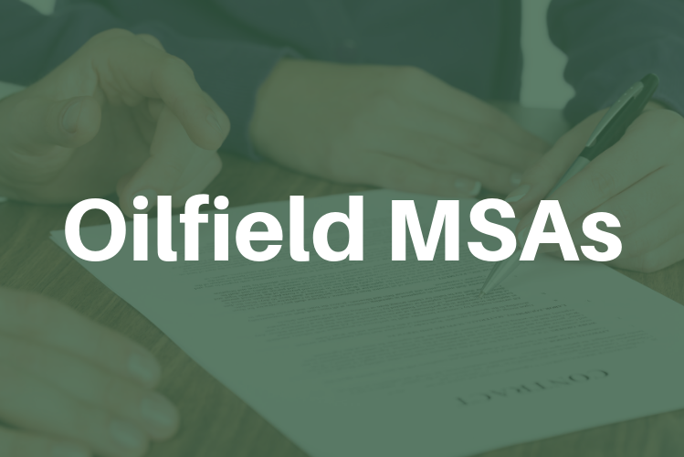 Oilfield Master Service Agreements