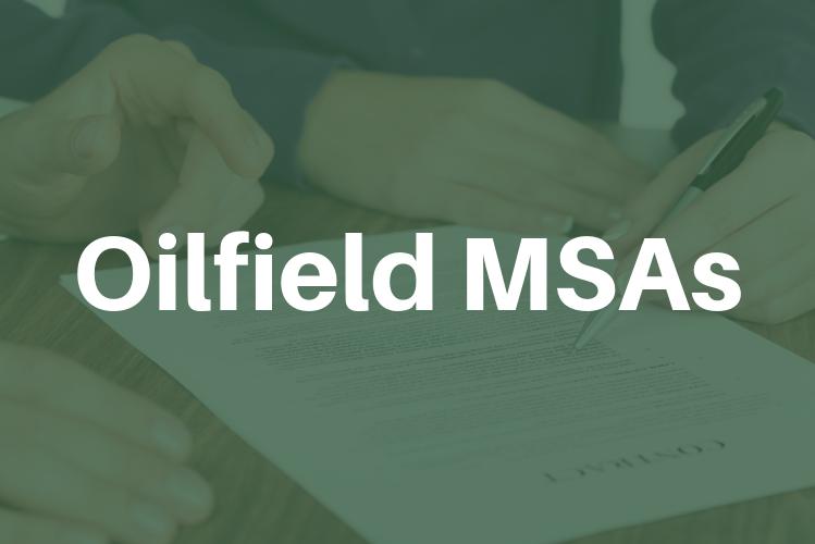 Oilfield Master Service Agreements